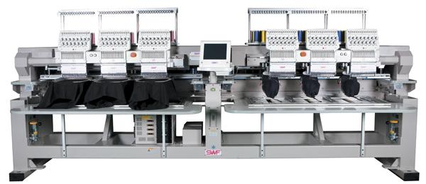SWF K-UH1506D-45 Dual Function 6 Head (Standard Sewing Field)