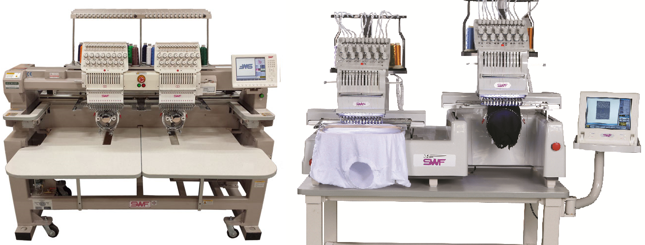 SWF Two Head Industrial Embroidery Machine Range